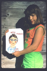 A pastel portrait of a teacher from the Young Artist period,1969.